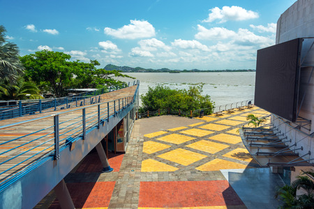 guayaquil: View of part of the boardwalk in Guayaquil, Ecuador Stock Photo