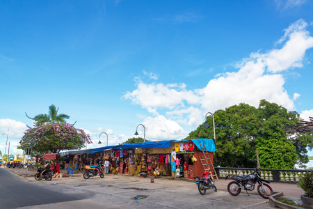 mototaxi: IQUITOS, PERU - MARCH 10: Souvenir stalls on the waterfront of Iquitos, Peru on March 10, 2015 Editorial