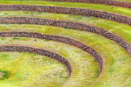 incan: Closeup view of the Incan ruins of Moray in Peru