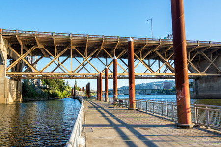 eastbank: View of the Eastbank on the Willamette River in Portland, Oregon
