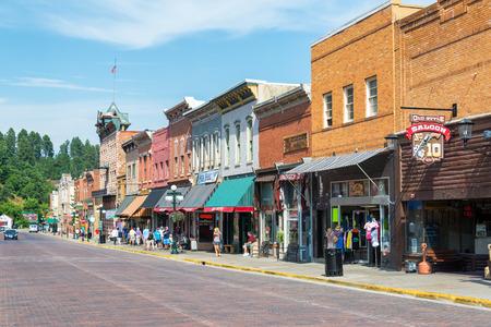 deadwood: DEADWOOD, SD - AUGUST 26: Main Street in historic Deadwood, SD on August 26, 2015