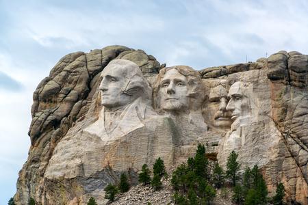 thomas stone: View of Mount Rushmore National Monument near Keystone, South Dakota Editorial