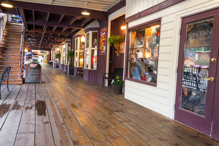 sd: KEYSTONE, SD - AUGUST 27: View of the wild west style boardwalk in Keystone, SD on August 27, 2015 near Mount Rushmore