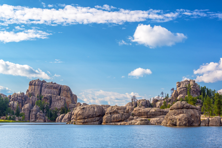 state park: Beautiful rock formations at Sylvan Lake in Custer State Park