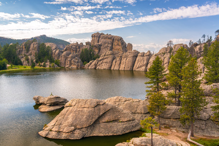 on the hill: View of Sylvan Lake in Custer State Park