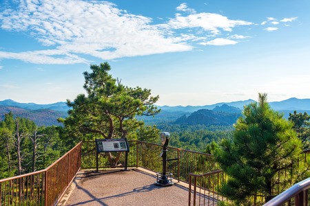 south: Viewpoint in the Black Hills in Custer State Park in South Dakota