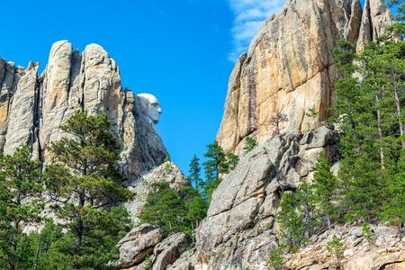 mount rushmore: Profile of George Washington at Mount Rushmore