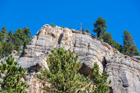cliff face: Cliff face view in South Piney Canyon near Story, Wyoming