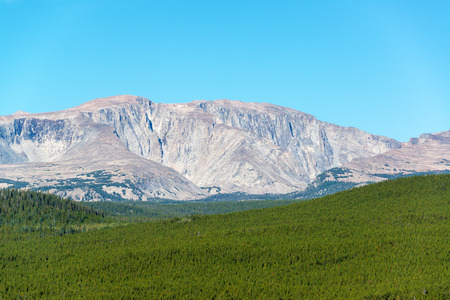 Bighorn Peak in the Bighorn Mountain Range in Wyoming