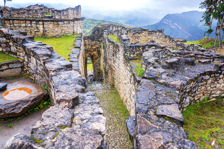 View of the entrance to the ancient fortress city of Kuelap, Peru