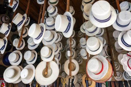 cuenca: Traditional hats for sale in Cuenca, Ecuador