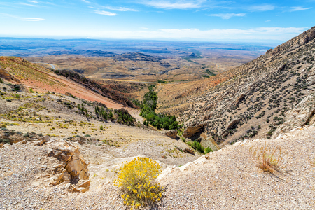 wyoming: Beautiful landscape looking down from the Bighorn Mountain Range near Sheridan, Wyoming