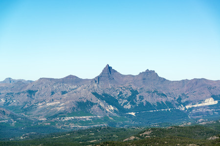 View of Pilot and Index Peak on the outskirts of Yellowstone National Park