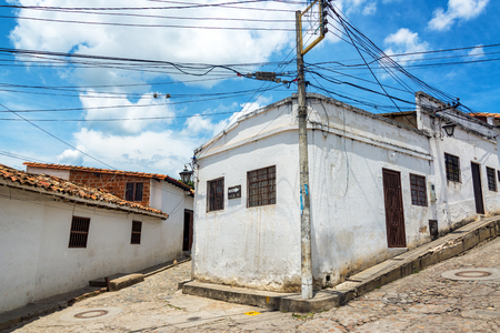 santander: Street corner in Giron, Colombia
