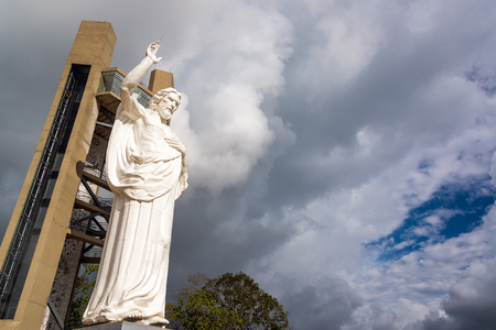 View of the impressive El Santisimo statue of Jesus Christ in Floridablanca, Colombia Stock Photo