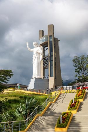 FLORIDABLANCA, COLOMBIA - MAY 3: El Santisimo statue of Jesus Christ in Floridablanca, Colombia on May 3, 2016