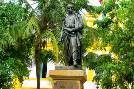 liberator: Statue of the liberator Simon Bolivar in Mompox, Colombia Editorial