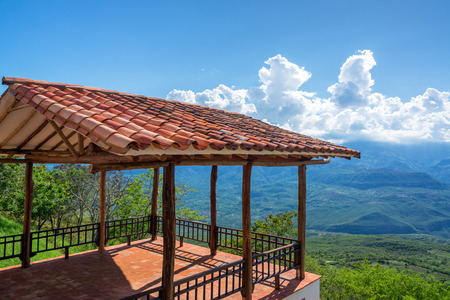 santander: Viewpoint on the outskirts of the historic colonial village of Barichara, Colombia