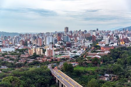 Cityscape view of Bucaramanga, Colombia