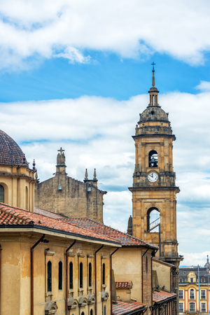 religious building: View of the cathedral on the Plaza de Bolivar in downtown Bogota, Colombia