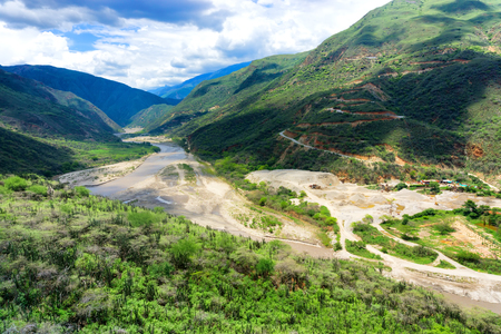 santander: View of Chicamocha Canyon in Santander, Colombia