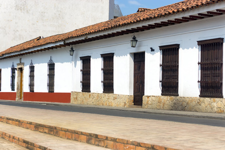 history architecture: Colonial architecture at the academy of history in Cali, Colombia