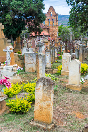 View of the cemetery in Barichara, Colombia
