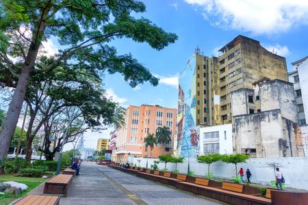 CALI, COLOMBIA - 11 de junio: Vista en el centro de Cali, Colombia el 11 de junio, el año 2016 Editorial
