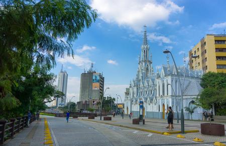 CALI, COLOMBIA - JUNE 11: View of La Ermita church in the center of Cali, Colombia on June 11, 2016