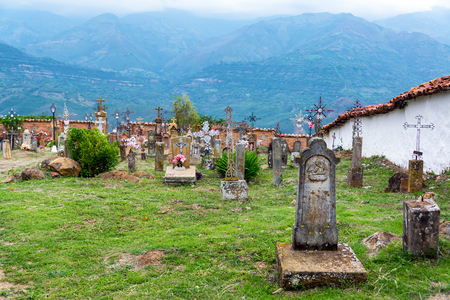 GUANE, COLOMBIA - MAY 14: View of the cemetery in the town of Guane, Colombia on May 14, 2016