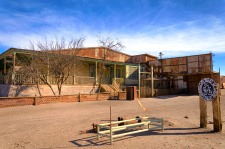 Saltpeter museum in the abandoned town of Humberstone, Chile Editorial