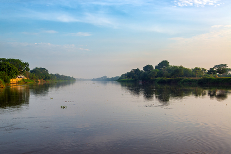 Early morning view of the Magdalena River in Mompox, Colombia