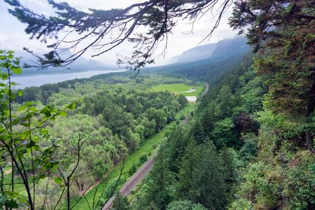 Columbia River Gorge landscape view near Portland, Oregon
