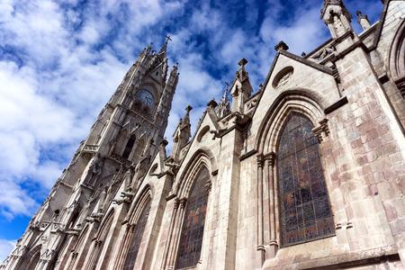 View of the Basilica in the center of Quito, Ecuador
