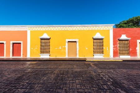 カンペチェ、メキシコの歴史的な中心部の美しいコロニアル建築