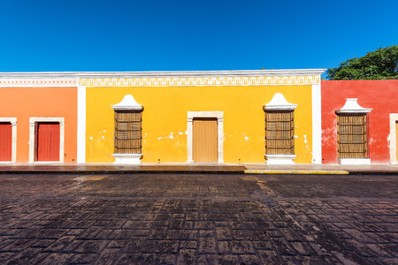 Beautiful colonial architecture in the historic center of Campeche, Mexico