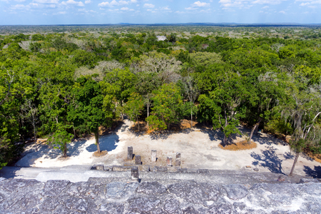 archeological: Ruins of Calakmul in Campeche, Mexico