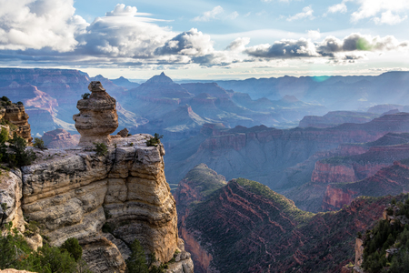Dramatic landscape view of the Grand Canyon in Arizona Stock Photo