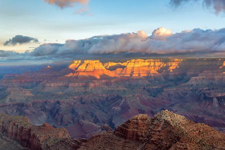 Beautiful sunrise in the Grand Canyon in Arizona