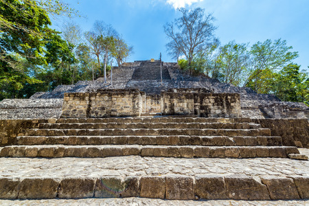 calakmul: Structure One pyramid in the Mayan ruins of Calakmul, Mexico