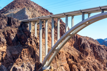 hoover dam: Interstate 93 bridge near Hoover Dam in Nevada