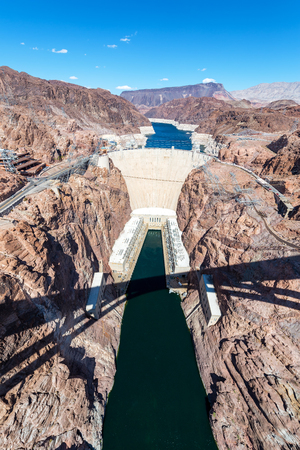 hoover dam: Vertical view of Hoover Dam near Las Vegas, Nevada