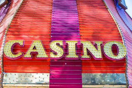 LAS VEGAS - SEPTEMBER 17: Sign at the entrance of Fremont Casino in Las Vegas on September 17, 2015