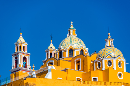 Beautiful church known as Our Lady of Remedies in Cholula, Mexico