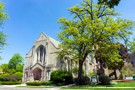 OAK PARK, IL - MAY 14: First Methodist Church in Oak Park on May 14, 2017 Editorial
