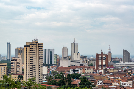 Cityscape view of Cali, Colombia Stock Photo