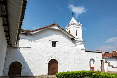 Beautiful old colonial church in Cali, Colombia