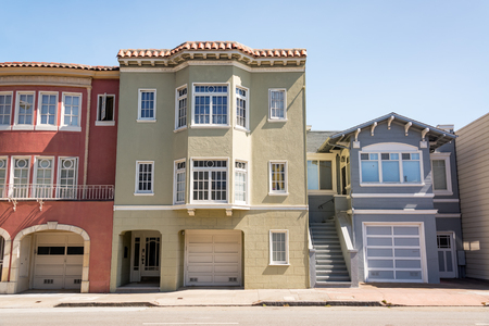Townhouses in San Francisco in the upscale Marina District