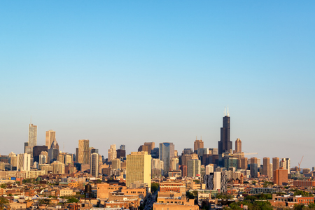 View of the skyline of downtown Chicago