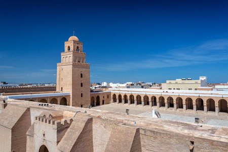 View of the stunning Great Mosque of Kairouan, Tunisia